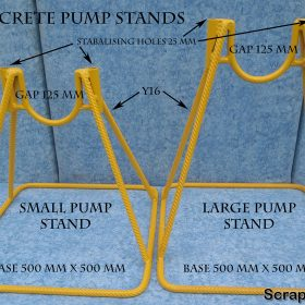 U Shaped Concrete Pump Stand Dimensions