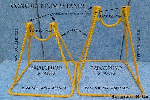 U Shaped Concrete Pump Stand Dimensions
