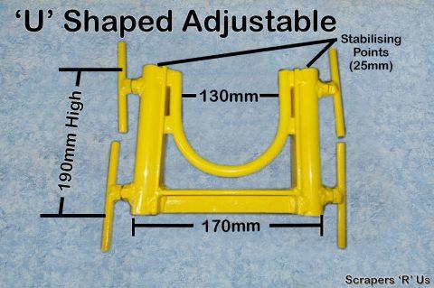 U Shaped Adjustable Concrete Pump Stand
