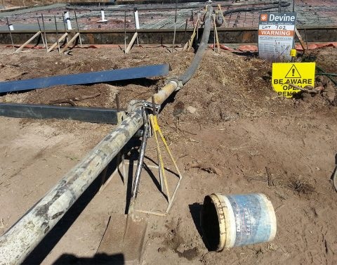 Concrete Pump Roller Stands In Action