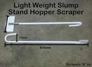 light weight slump stand hopper scraper